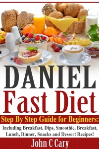 The photo on this book includes eggs, cheese, ham, jam, raised breads, milk and other food not allowed on the Daniel Fast! Just one example!